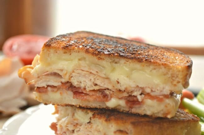 Grilled Cheese and Turkey sandwich