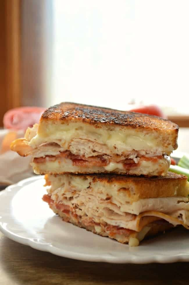 Grilled Turkey Bacon and Cheese