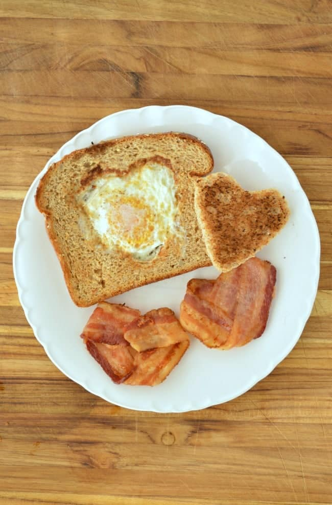 Heart Shaped Breakfast How To