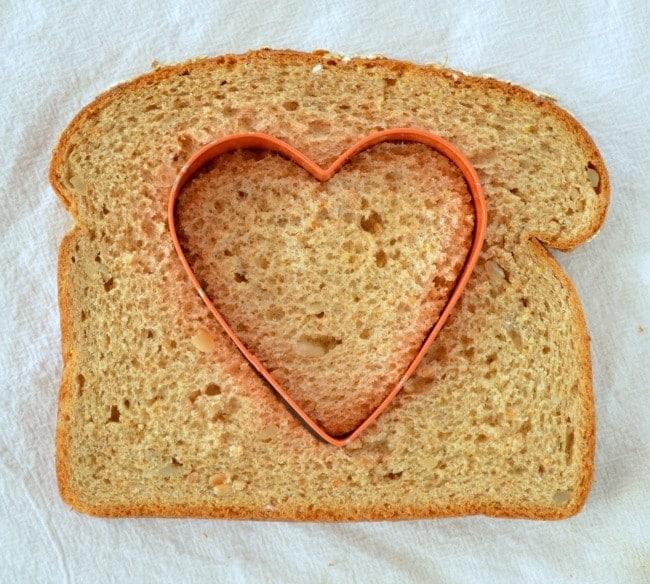 Heart Shaped Eggs in a Basket Recipe