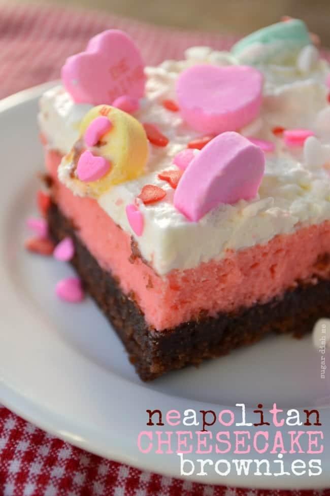 Neapolitan Cheesecake Brownie Recipe