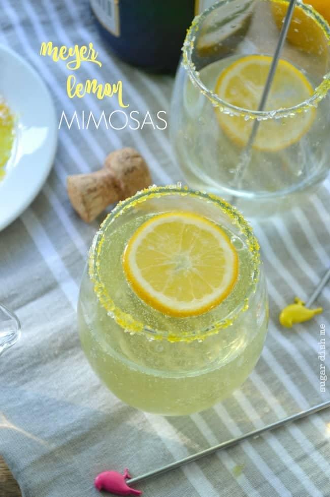 Meyer lemon Mimosas Recipe