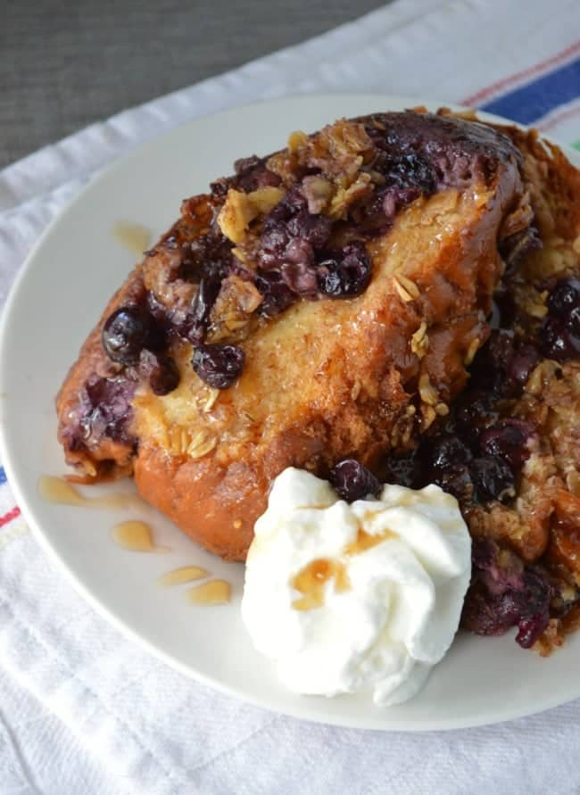 Blueberry Crunch French Toast