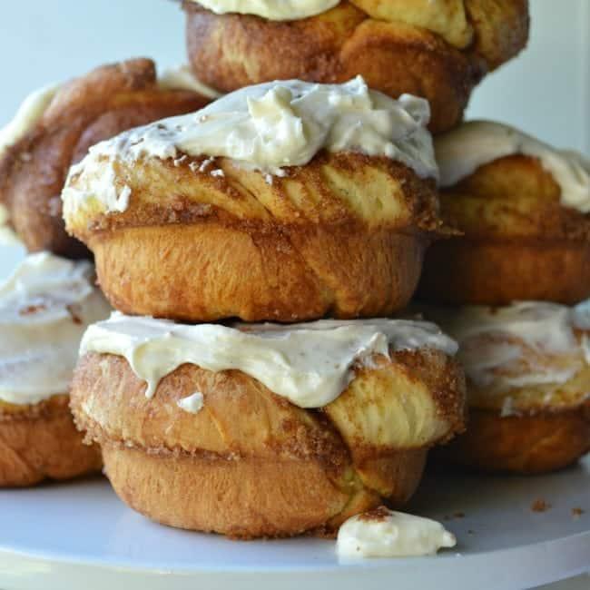 Cinnamon Roll Doughnuts