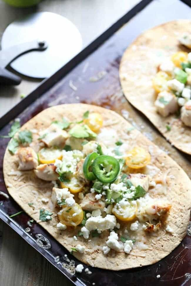 Tequila Lime Chicken Pizza via Lemons for Lulu