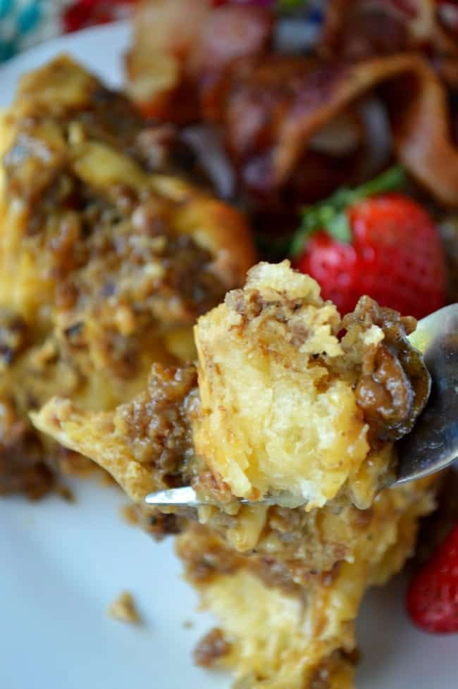 Breakfast Casserole with Apple Butter