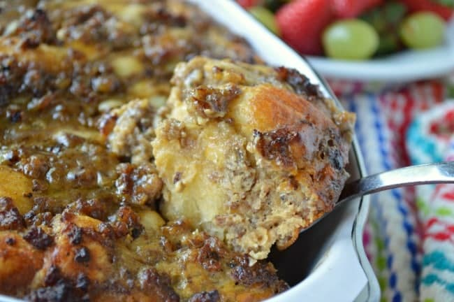 Sausage and Apple Butter Breakfast Casserole