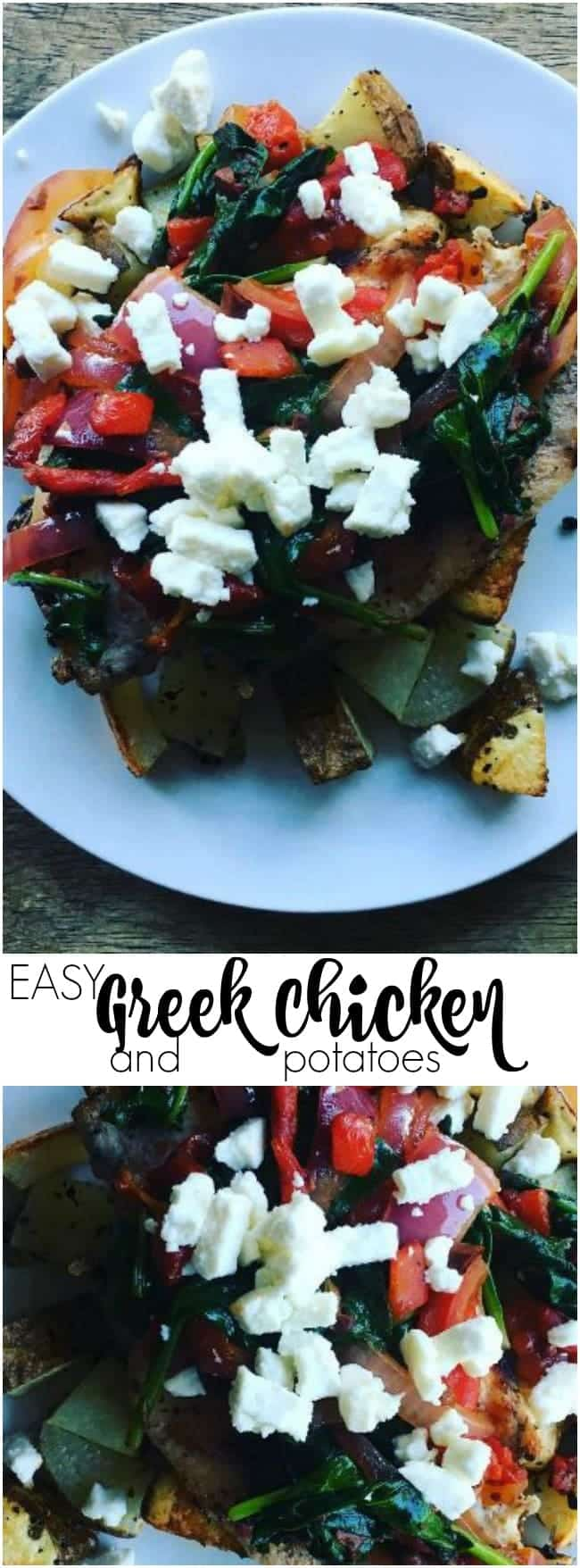This Easy Greek Chicken and Potatoes Recipe is reeady in just 30 minutes! Simple, healthy, and loaded with flavor.