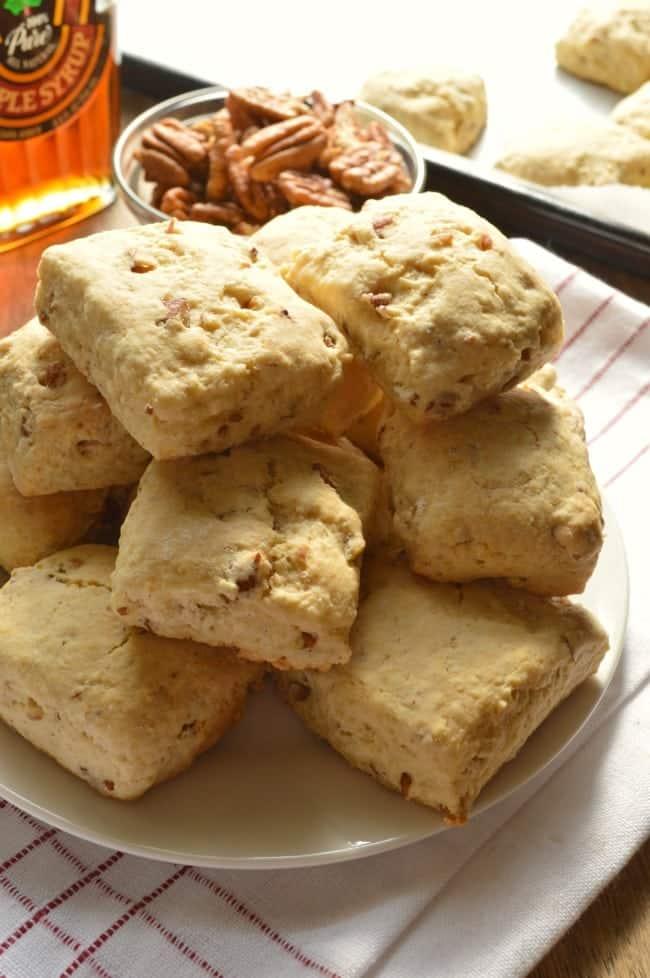 Maple Pecan Scones Recipe - only 156 calories each!@