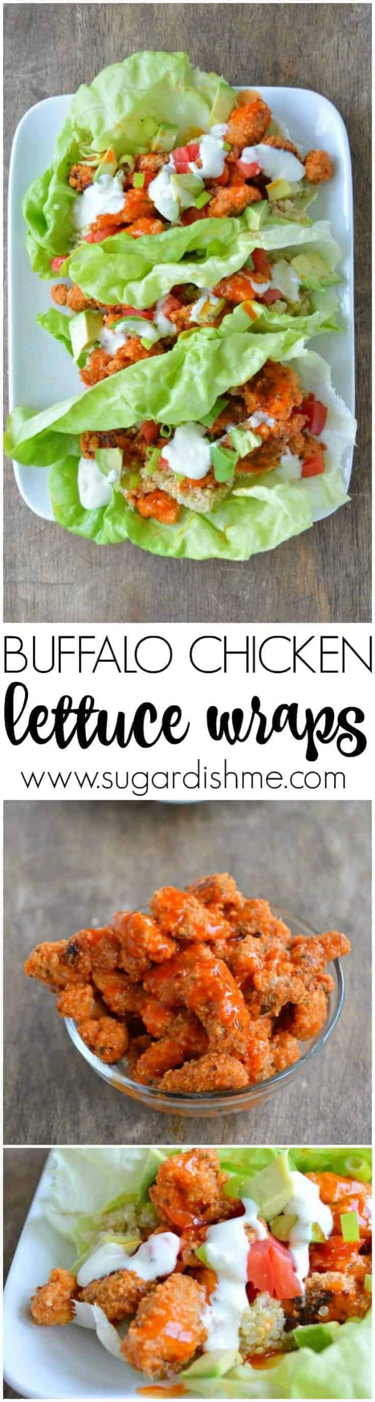 Buffalo Chicken Lettuce Wraps are a healthy and filling lunch or dinner your whole family will love. Note that prep time includes 30 minutes for the chicken to marinate.