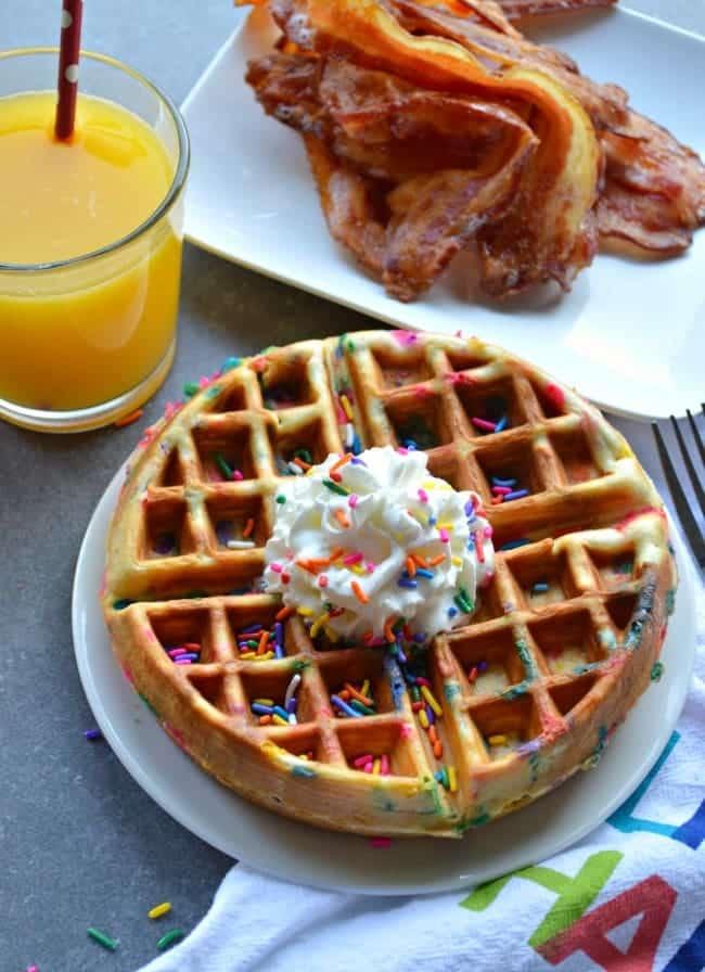 Funfetti Waffle Breakfast