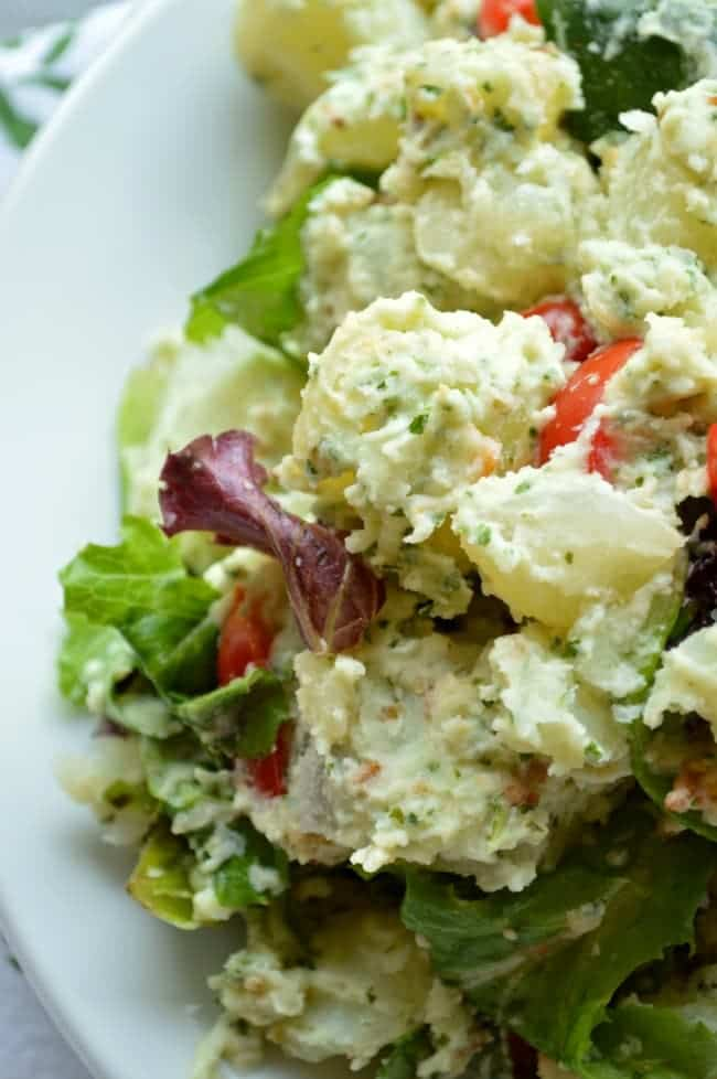 ... creamy lemon basil potato salad roasted potato salad with creamy dijon