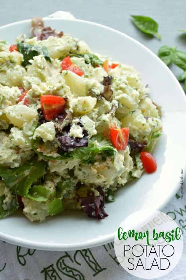 Lemon Basil Potato salad Recipe