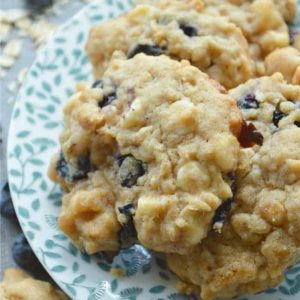 White Chocolate Blueberry Oat Cookie Recipe