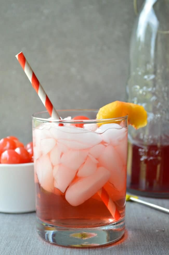 Cocktail with Peach Cider