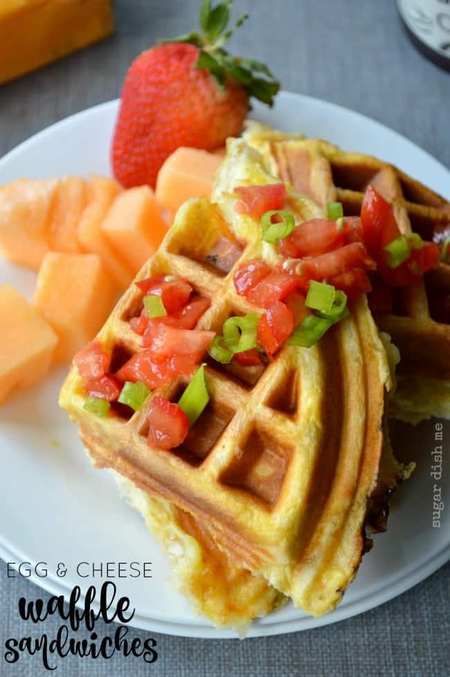 Egg and Cheese Waffle Sandwiches Recipe