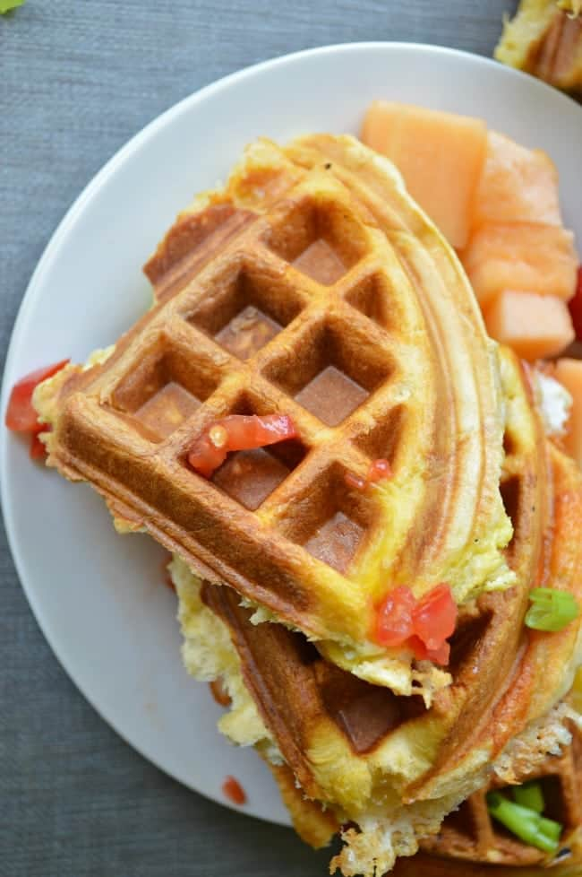 Egg and Cheese Waffle Pockets Recipe