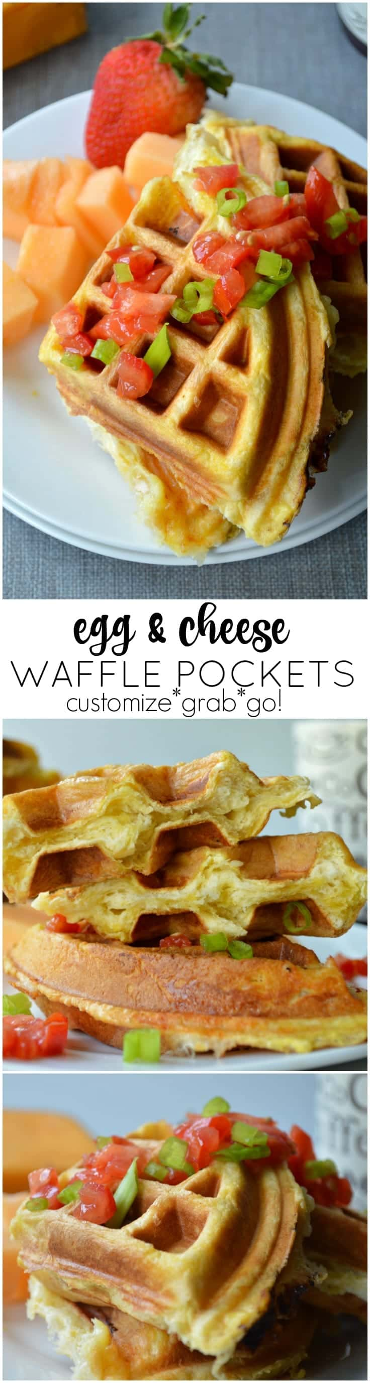 These Egg and Cheese Waffle Pockets are the easiest breakfast on the go! Made with refrigerated biscuit dough, it's simple to change the flavor to suit you!