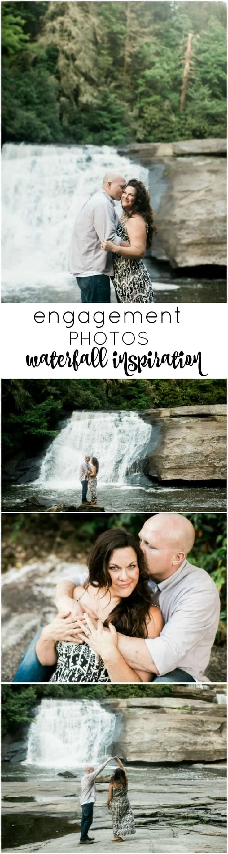 Engagement Photo Session in the North Carolina Mountains! Waterfall inspired.