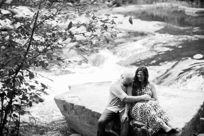 Black and White Engagement Photo Ideas