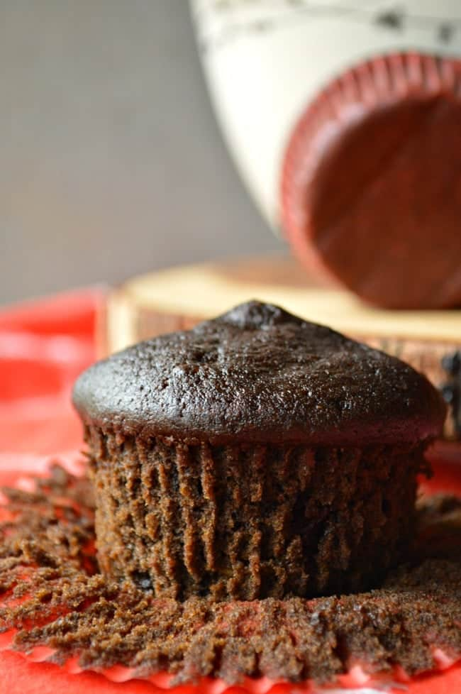 Super soft Double Chocolate Muffins