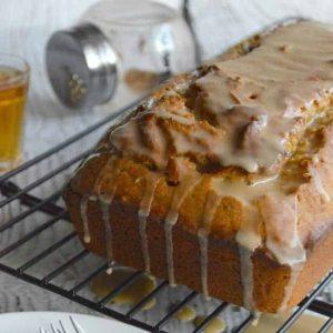 Brown Butter Pumpkin Cake with Bourbon Glaze