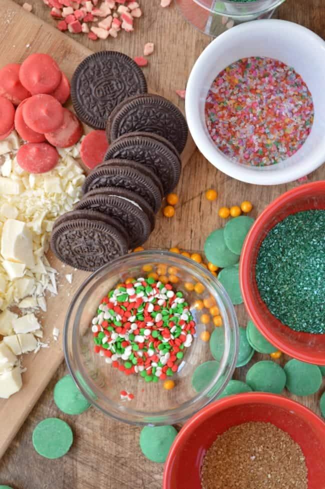 Oreo Cookie Ball Tree Ingredients