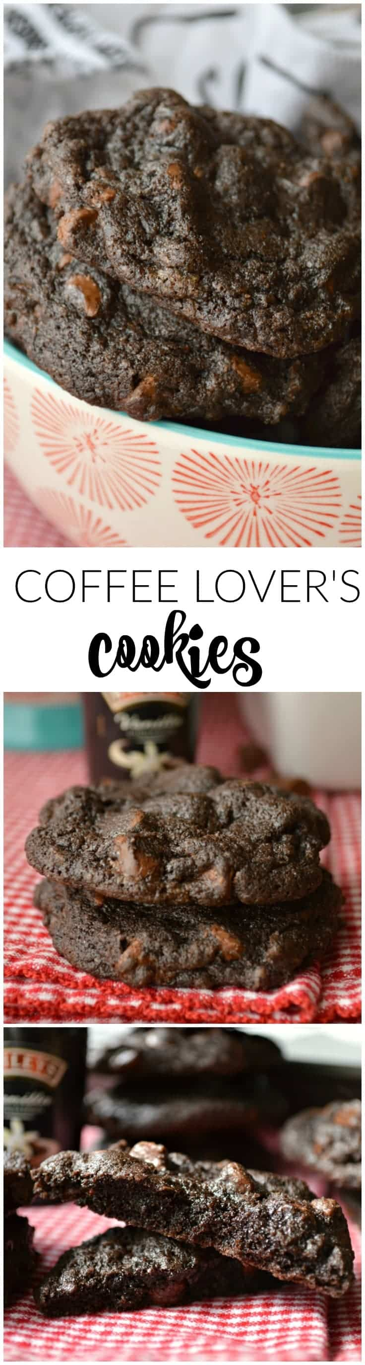 Soft and fudgy Coffee Lover's Cookies have espresso powder in the cookie dough and espresso chips in every bite.