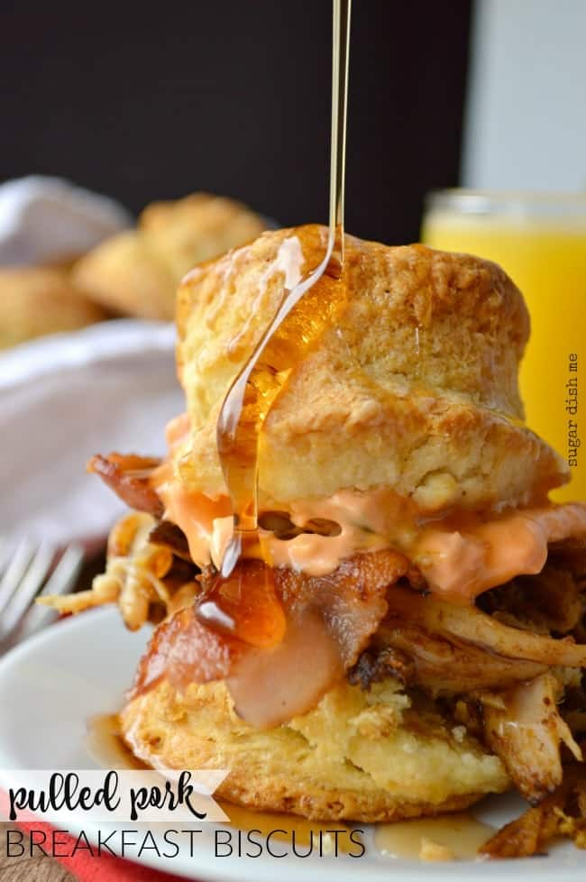 Pulled Pork Breakfast Biscuits