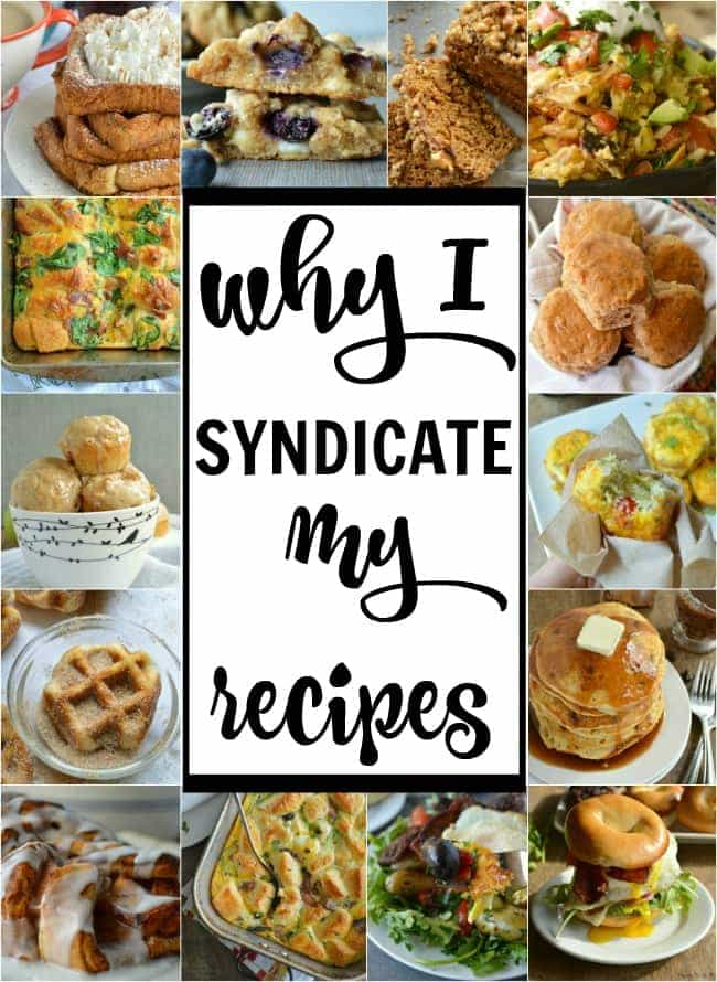 Why I Syndicate My Recipes