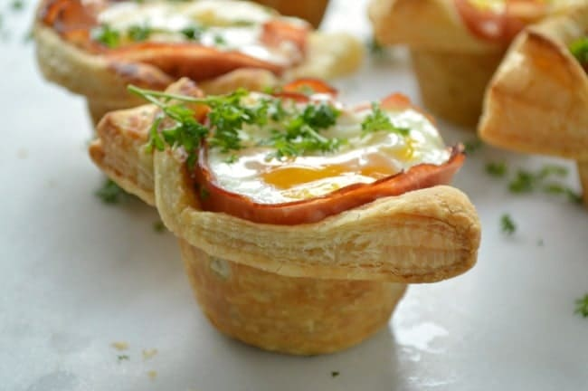 Ham and Egg Puff Pastries
