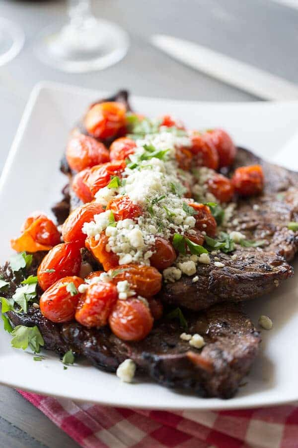 Steak with Roasted Tomatoes