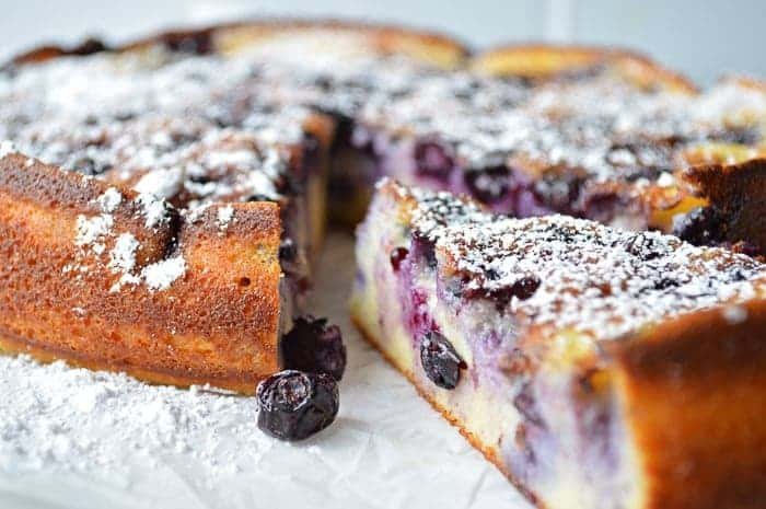 Sliced Blueberry Breakfast cake