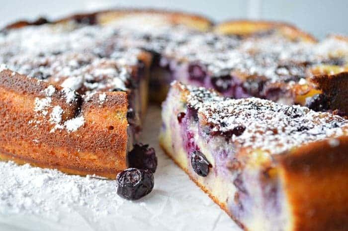 Sliced Blueberry Breakfast cake