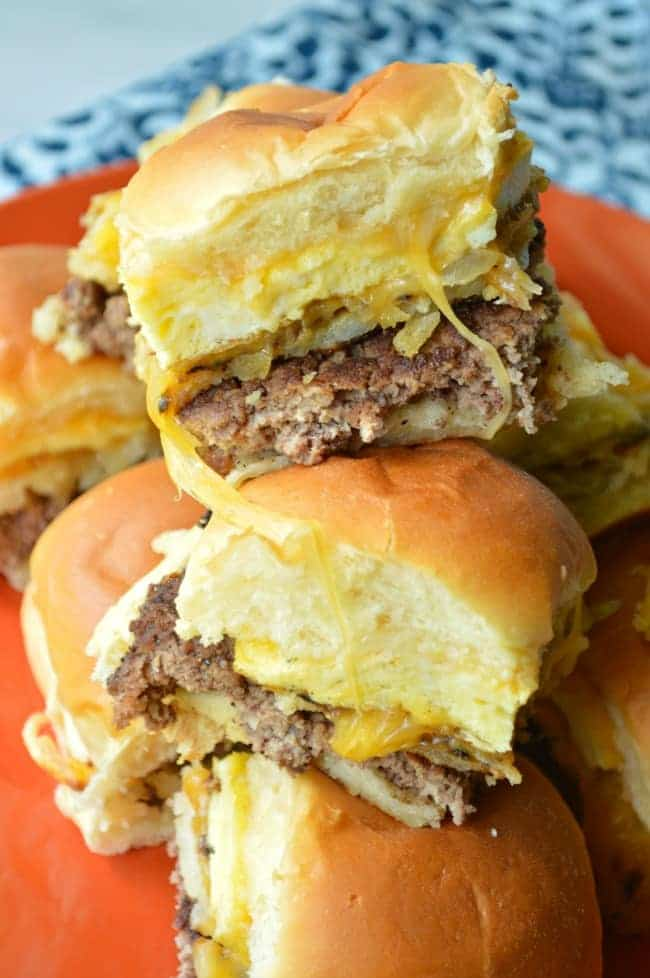 Cheesy hash Brown Breakfast Sliders recipe