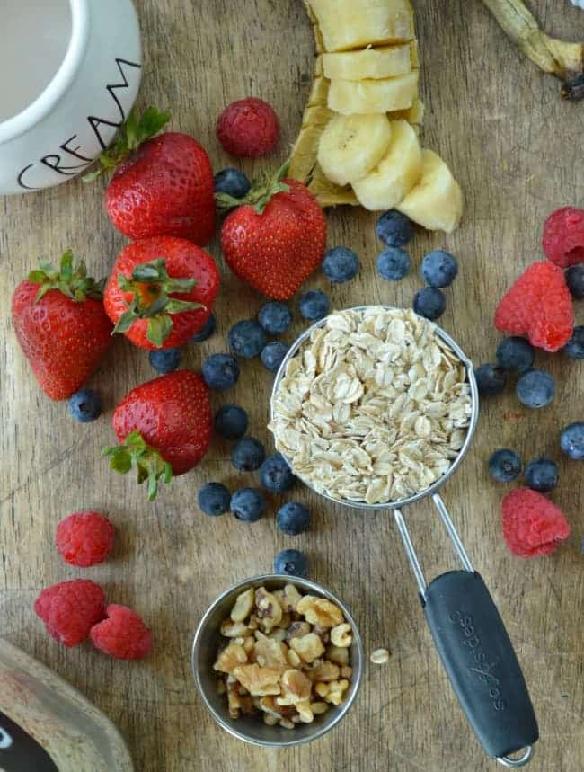 Perfect Stovetop Oatmeal Ingredients