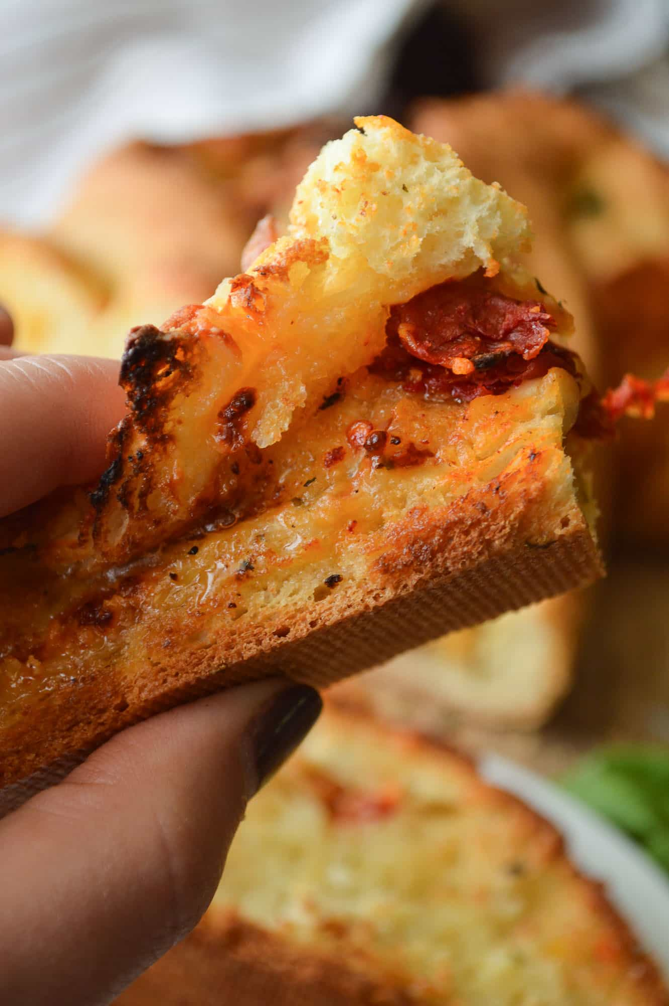 Easy Cheesy Italian Bread Toasted
