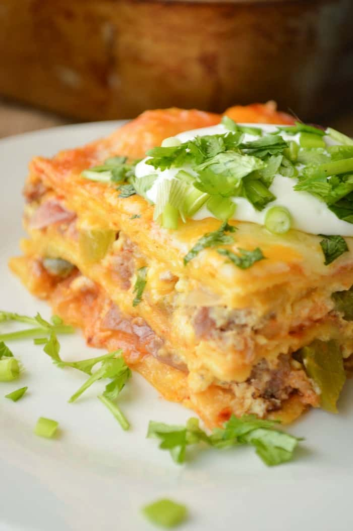 Enchilada Breakfast Casserole