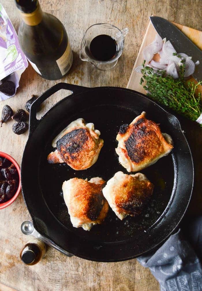 Feels Fancy Figgy Chicken Prep