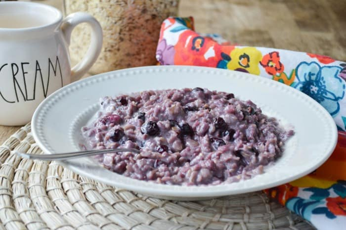 Blueberries and Cream Oatmeal Recipes