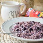 Blueberries and Cream Oatmeal Recipe
