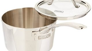 Viking Contemporary 3-Ply Stainless Steel Saucepan with Lid, 2.4 Quart