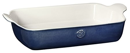 "Emile Henry Made In France HR Modern Classics Large Rectangular Baker, 13 x 9"", Blue"