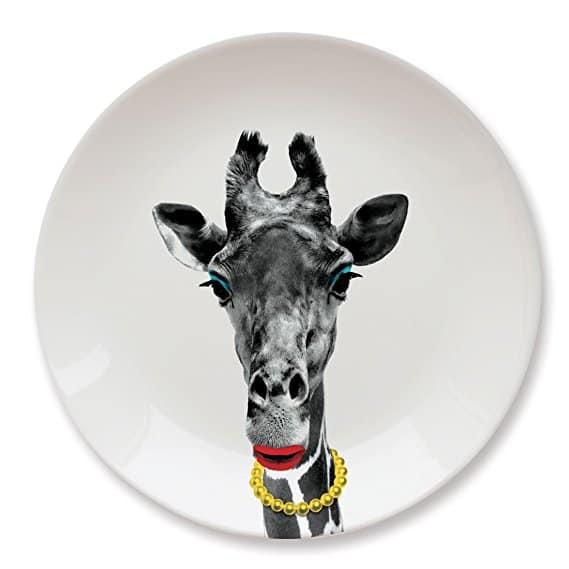 MUSTARD Ceramic Dinner Plate I Dishwasher safe I Dinnerware - Wild Dining Giraffe