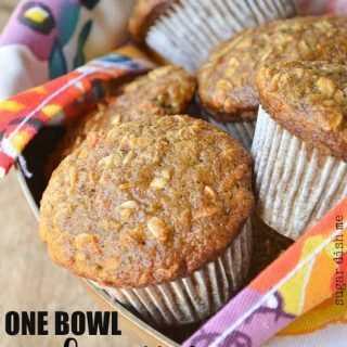 Easy One Bowl Apple Carrot Muffins