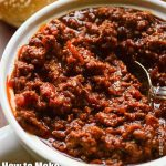 Chili made for topping Hot Dogs and Hamburgers