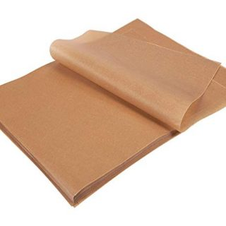 200 Count Precut Parchment Baking Paper - Unbleached Parchment Paper for Baking, Half Sheet Pans - Non-Stick Baking Parchment Sheets, Brown, 12 x 16 Inches