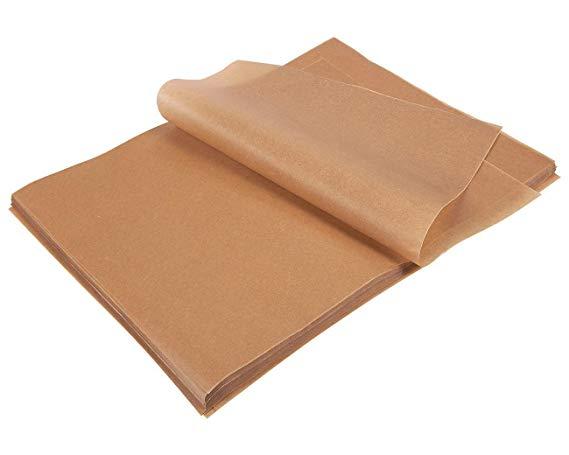 200 Count Precut Parchment Baking Paper - Unbleached Parchment Paper for Baking, Half Sheet Pans - Non-Stick Baking Parchment Sheets, Brown, 12 x 16 Inches