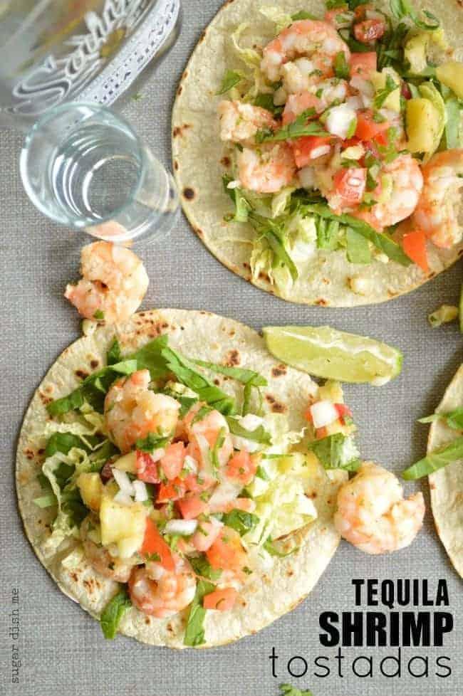 Tequila Shrimp Tostadas