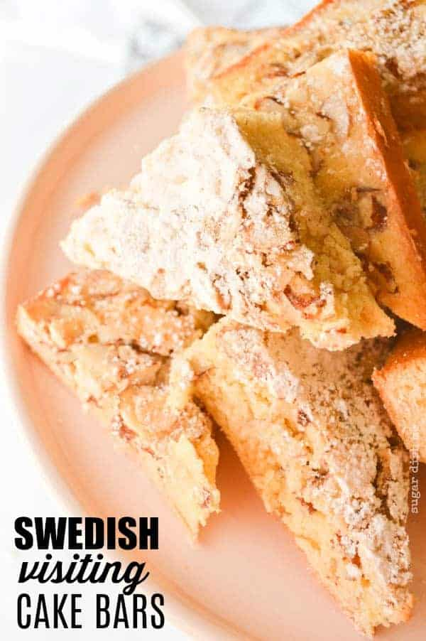 Swedish Visiting cake Bars are buttery goodness with a hint of almond!